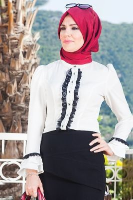 Merve Arslan Beyaz Meyra Bluz
