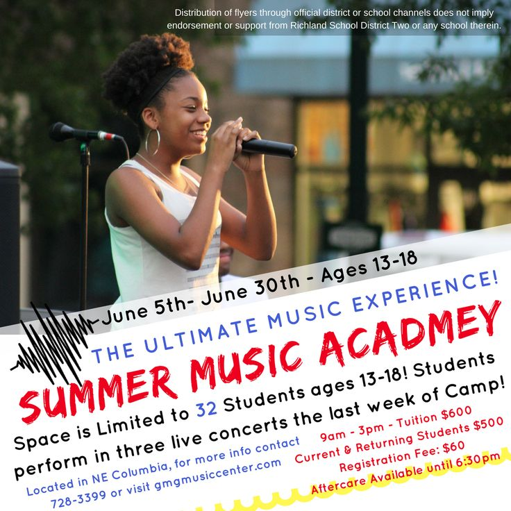 Summer Music Academy (ages 13-18)