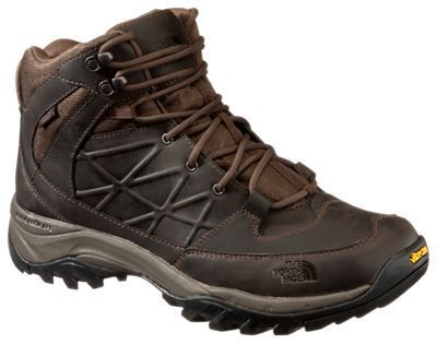 The North Face&r Storm Mid WP Leather Waterproof Hiking Shoes for Men - Coffee Brown - 8.5M