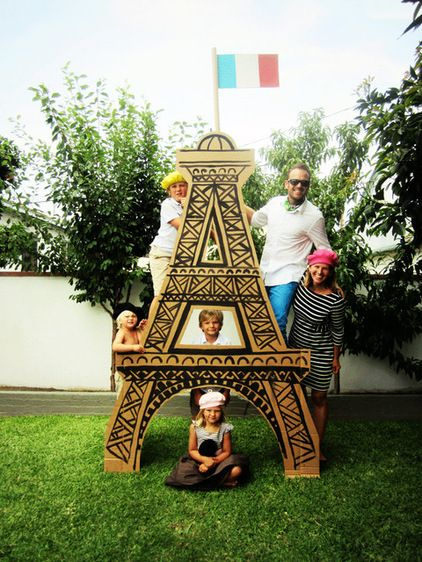 """As Ms. Hepburn said.. """"Paris is Always a Good Idea"""", and methinks a giant cardboard Eiffel Tower sets the stage nicely for an APRIL IN PARIS PARTY. #photoprops"""