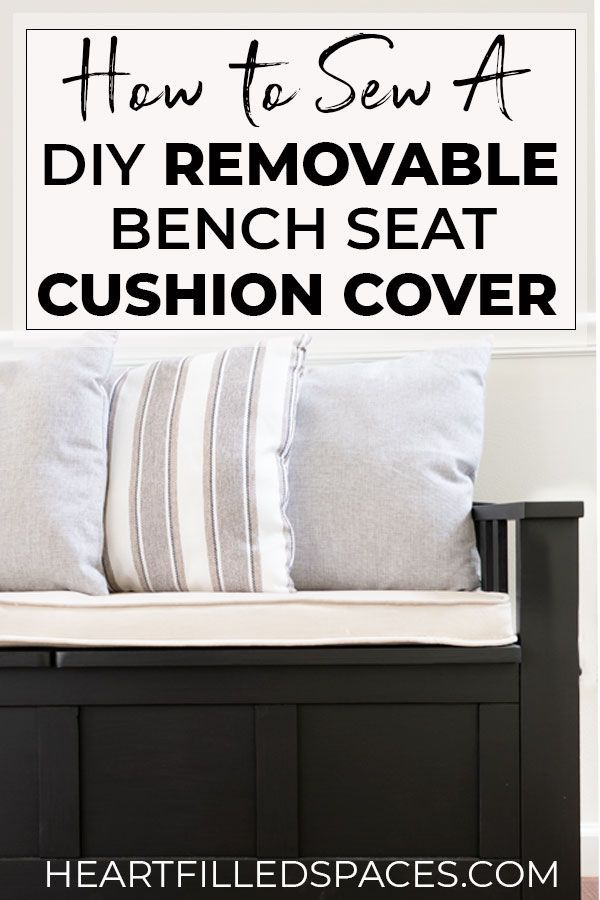 Diy Removable Bench Seat Cushion With Piping With Images Bench