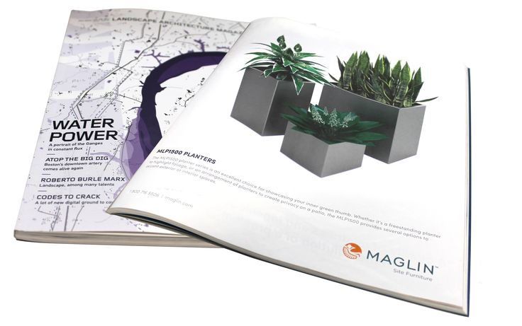 Maglin's new planter series #MLP1500 was presented in the LANDSCAPE ARCHITECTURE MAGAZINE in the July 2016 Issue!