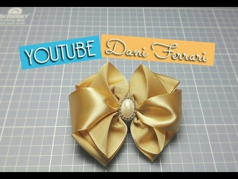 COMO FAZER LAÇO DE FITA DE CETIM - TUTORIAL PASSO A PASSO - RIBBON BOW HAIR - Dani Ferrari - YouTube