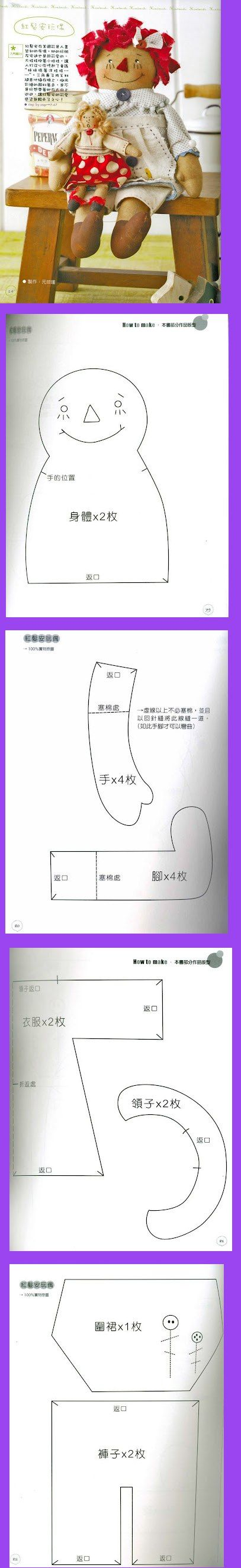 annie - molde japonesa