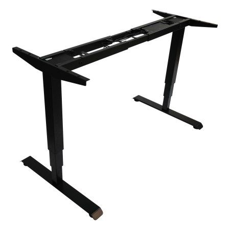 Alera 3-Stage Electric Adjustable Table Base w/Memory Controls, 25 inch to 50 3/4 inchH, Black