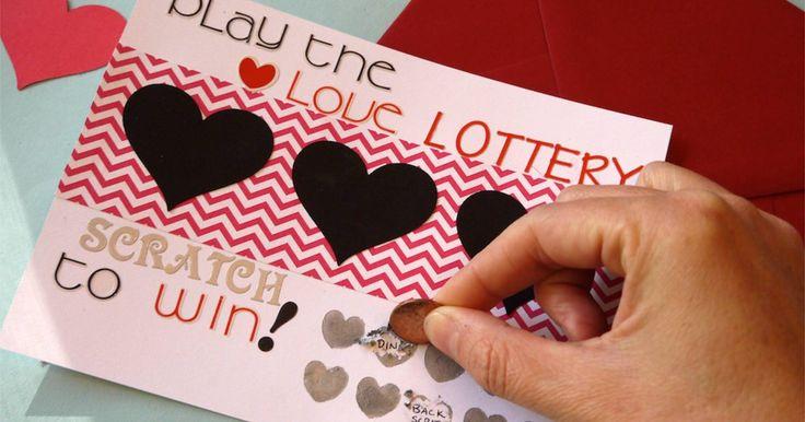 Tarjeta artesanal para raspar de San Valentín