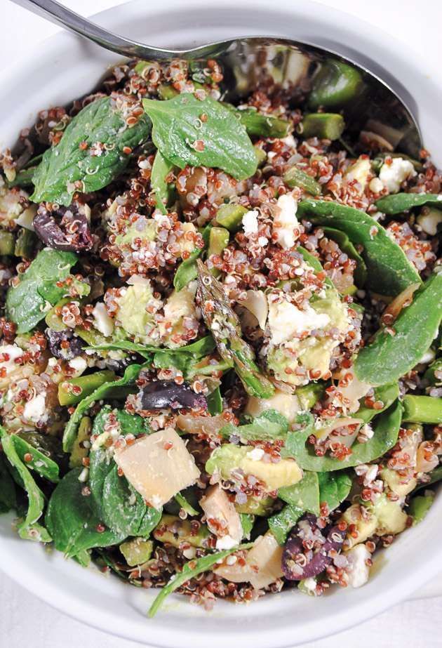 Mediterranean Asparagus and Quinoa Salad with Artichokes, Avocado and ...