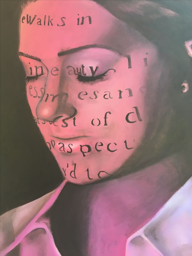 DHSfG Beth Garrigan A Level Art Portraits in pink