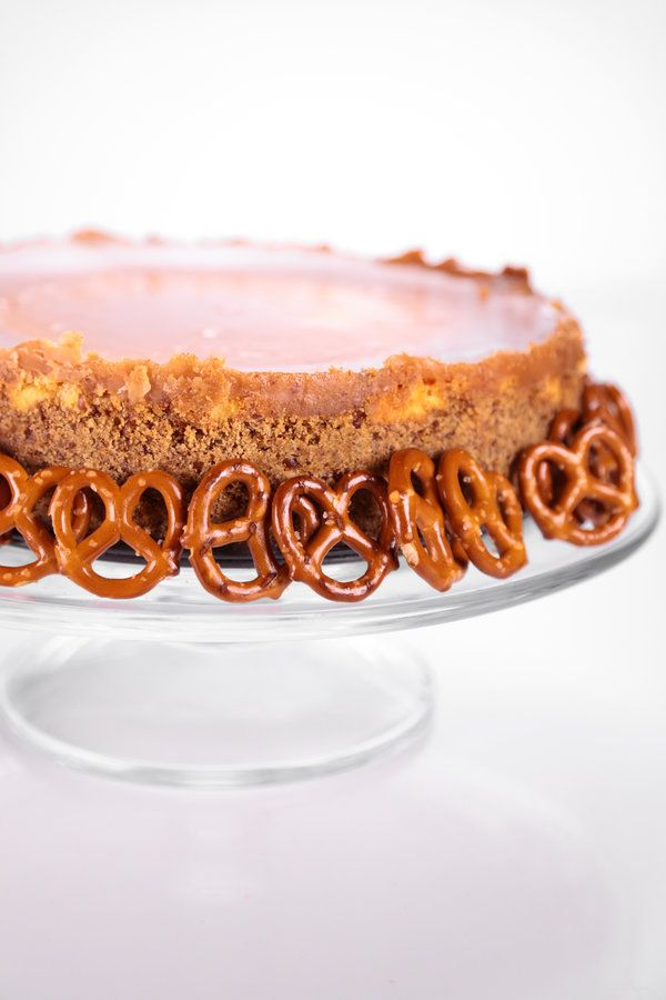 the chew | Recipe  | Clinton Kelly's Chocolate-Covered Caramel Pretzel Cheesecake