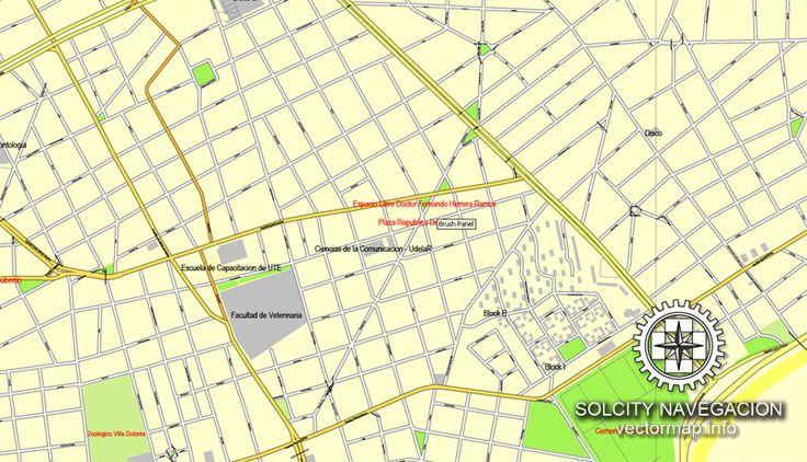 Pdf map Montevideo Uruguai