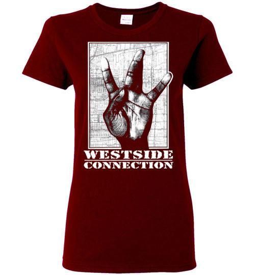 Westside Connection, Ice Cube , WC, Mack 10, West Coast Hip Hop, Gangsta Rap , Bow Down,Los Angeles, Gildan Ladies T-Shirt