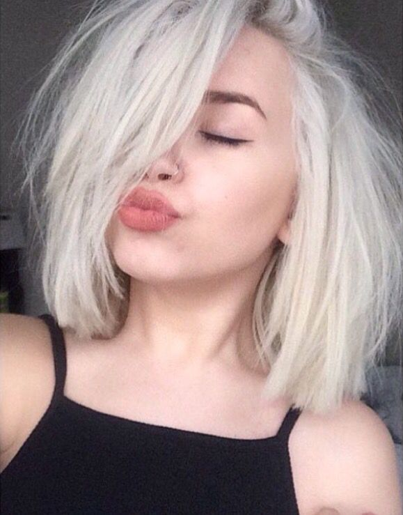 Amazing Pale Skin Light Bleached Hair Hair Style Dye