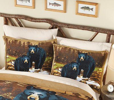 Nature Bear Fleece Pillow Shams