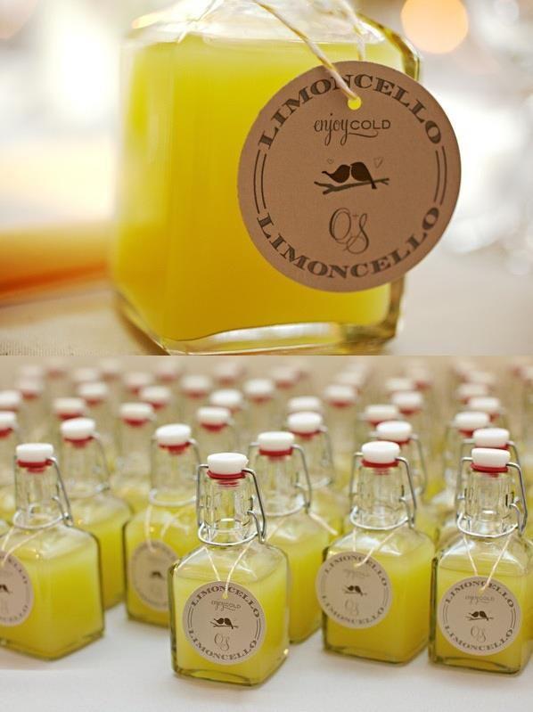 Miniature liqueur bottle guest favours ... LOL @Beth J Jackson Epic!! Good for the adults haha