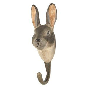 DecoHook Mountain Hare Kanin Bunny -  handcarved clotheshanger from Wildlife Garden