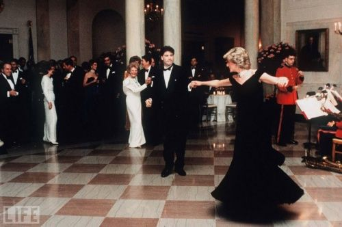 Princess Diana shared a dance with Greece star John Travolta when the two met at the White House in 1985