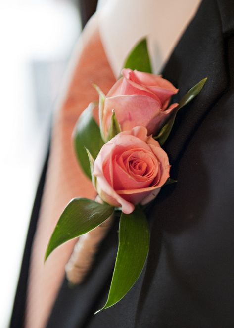 A romantic rose boutonniere. {Cynthia Michelle Photography}
