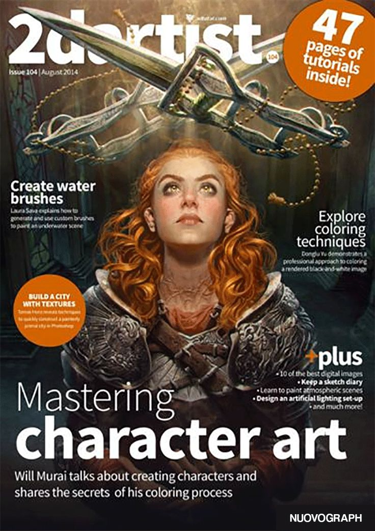 Drawing Magazine Free Download : 2D Artist – Issue 104, August 2014 | Nuovograph