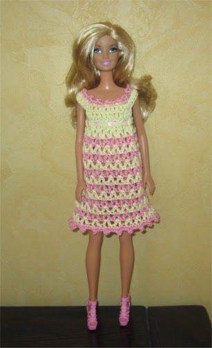 Passion Poupées: Une robe pour Barbie