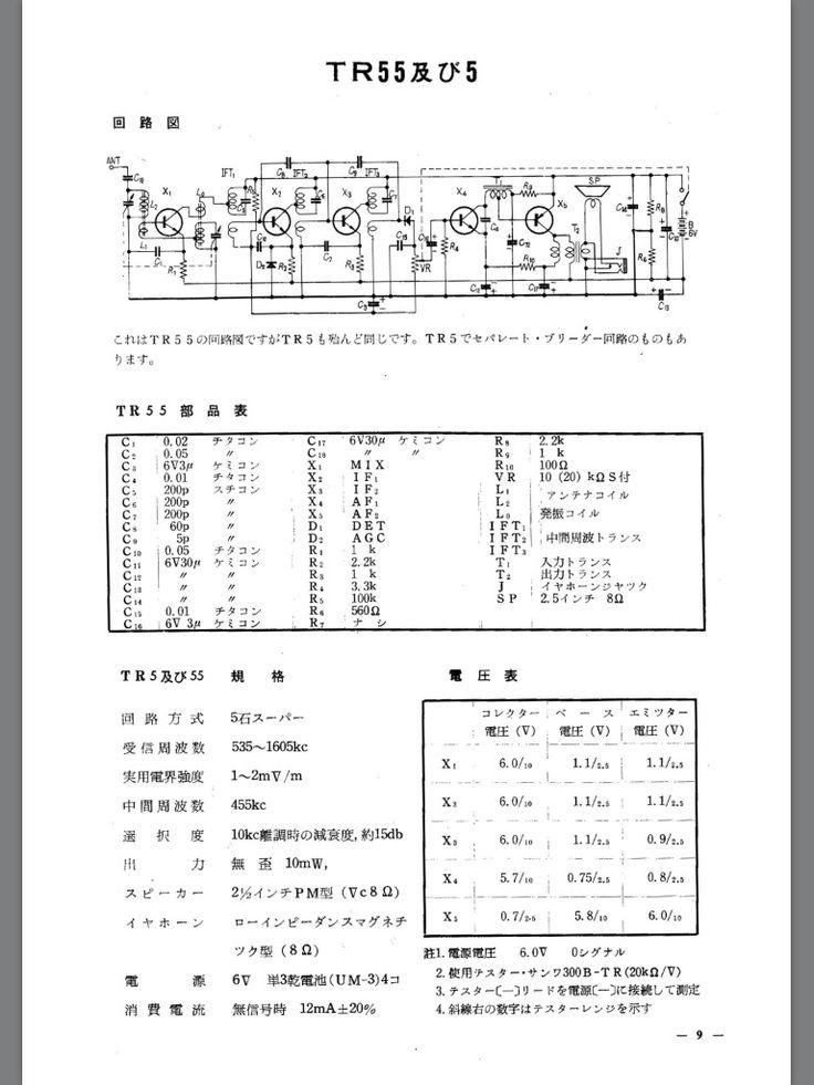 TR-55 回路図 パーツデータ