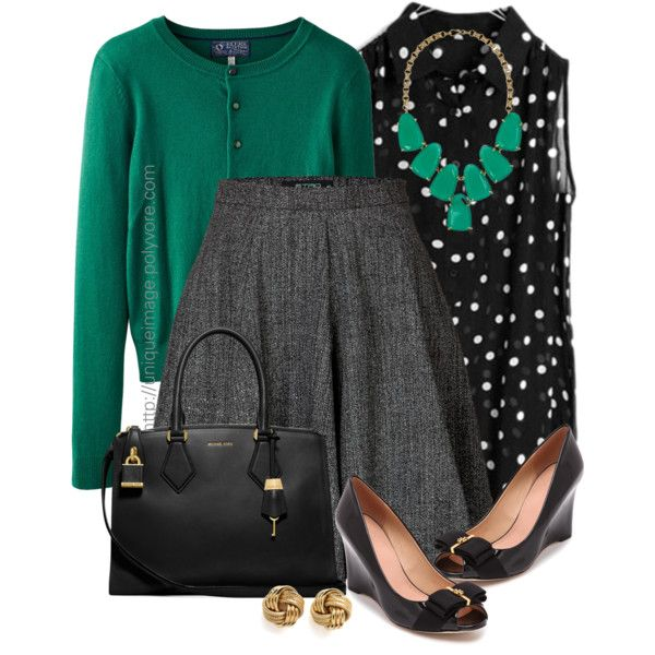 Black, Grey, Green by uniqueimage on Polyvore featuring Joules, Etro, Tory Burch, Michael Kors and Kendra Scott