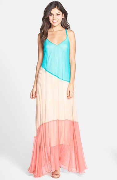 Charlie+Jade+Colorblock+Maxi+Dress+available+at+#Nordstrom