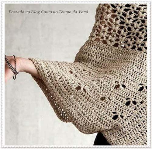 Crochet Poncho - Chart ❥ 4U hilariafina  http://www.pinterest.com/hilariafina/
