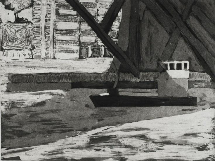 Under the Bridge, 2009  Artist: Julian Twigg  Medium: Etching  Image Size: 22 x 30 cm  Edition: 20