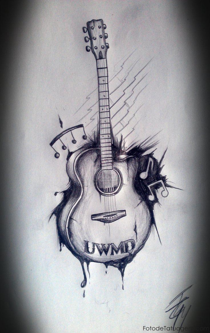 Resultado de imagem para tatoo guitarra