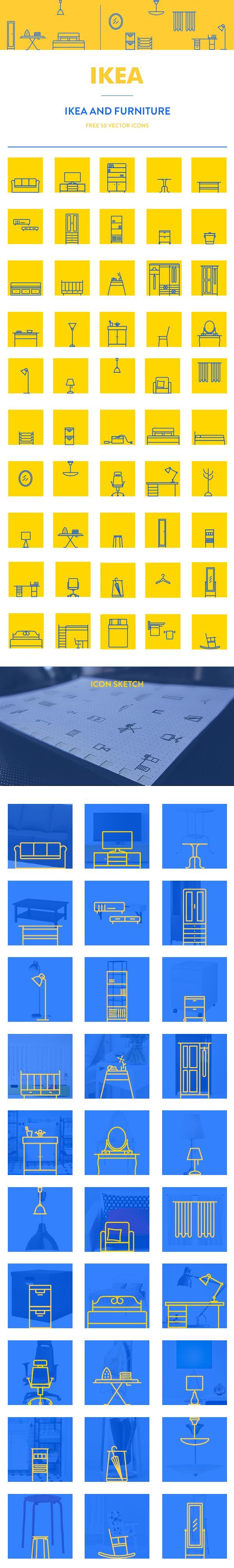 https://www.behance.net/gallery/23325933/IKEA-furniture-icon