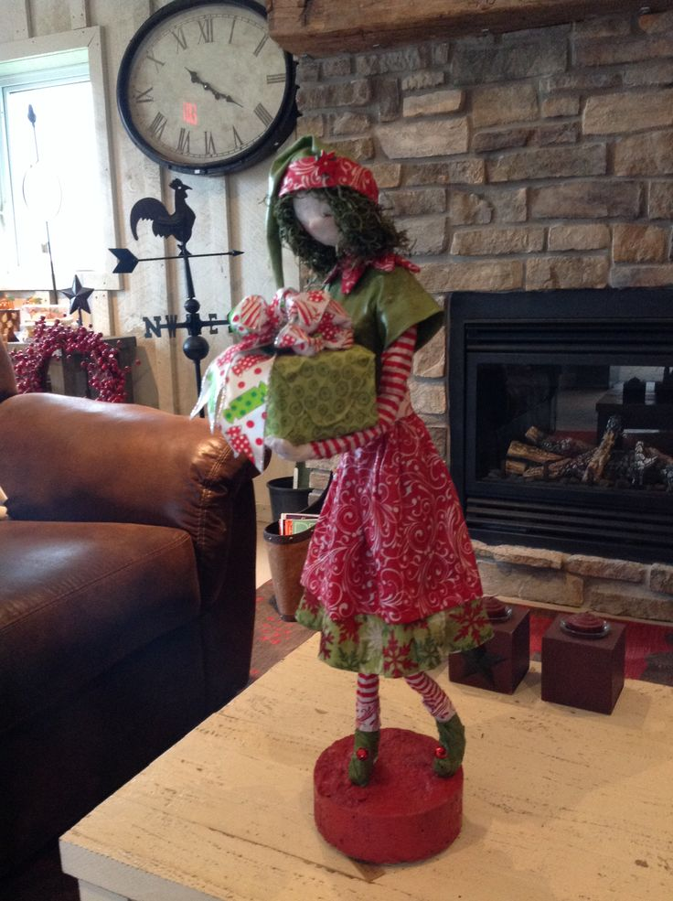 Christmas fabric sculpture by Anne