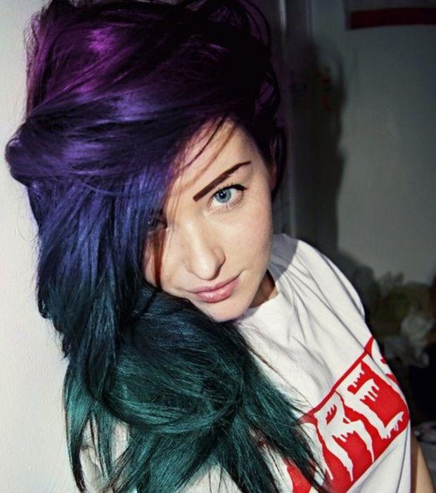 Pelo galáctico: el violeta, el azul y el verde son los colores más sexys