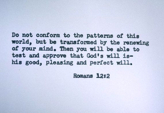 ROMANS 12:2 Quote Hand Typed on Typewriter by PoetryBoutique