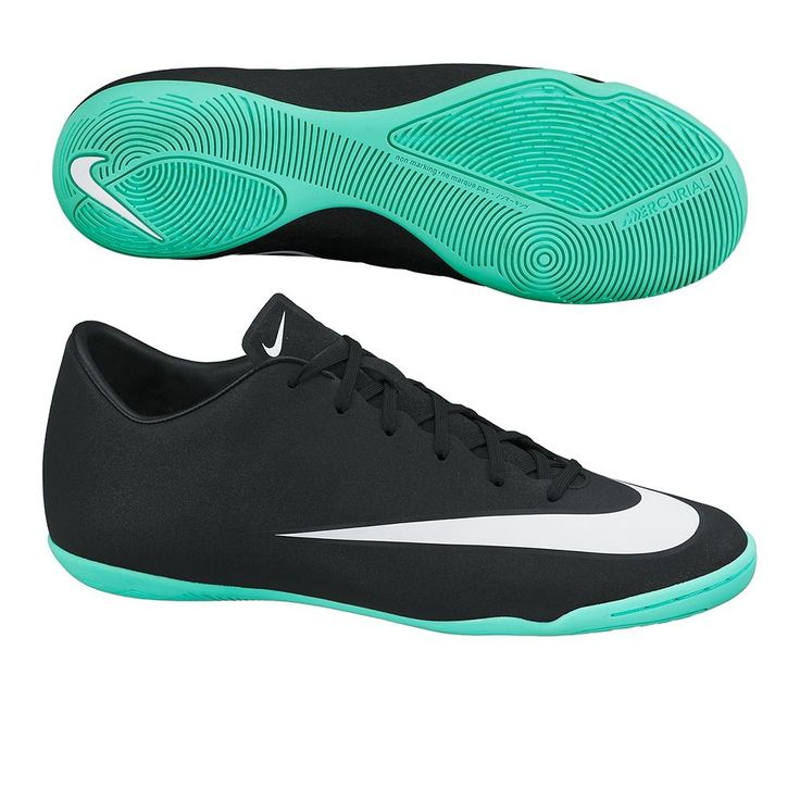 $76.49 - Nike Mercurial Victory V CR7 Indoor Soccer Shoes (Black/Neo Turquoise/White) | Nike Indoor Soccer Shoes |FREE SHIPPING| 684875-014 | 684875-014 | soccercorner.com