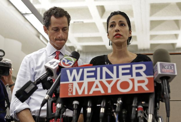 """Anthony Weiner: Huma Will Play Role In Hillary Clinton's 2016 Campaign So hillary """"Leave 'em dead in Benghazi"""" clinton is going to  have her favorite muslim brotherhood/sisterhood friend, huma abedin campaigning for her.  The mad duo."""