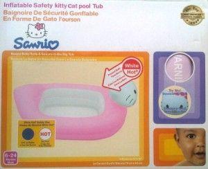 92.000  Bak mandi untuk si kecil merek Munchkin.  Bisa memberikan indikasi air panas, warna akan berubah bila terlalu panas.  Terdapat 4 model: Kitty, Hipo, Pooh, Gajah dan Duck/Bebek