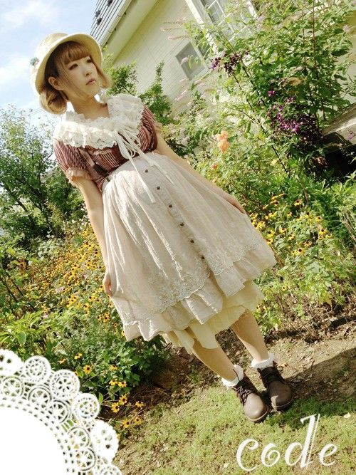 Axes Femme and Wonder Rocket clothing coordination. しばみくスカート「axes femme スカート」Styling looks