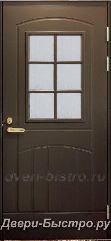 Межкомнатная дверь Входная дверь F2000 W71 Коричневая со стеклом
