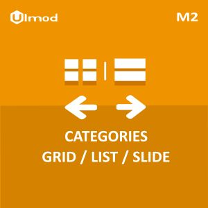 Categories grid list slide for Magento 2 allows you to display categories and sub categories on category pages, home page or any pages to improve site navigation and help customers find what they are looking for. #magento2 #extension #ecommerce #business #online