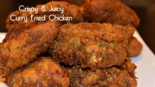 Crispy Juicy Curry Fried Chicken | She's Got Flavor