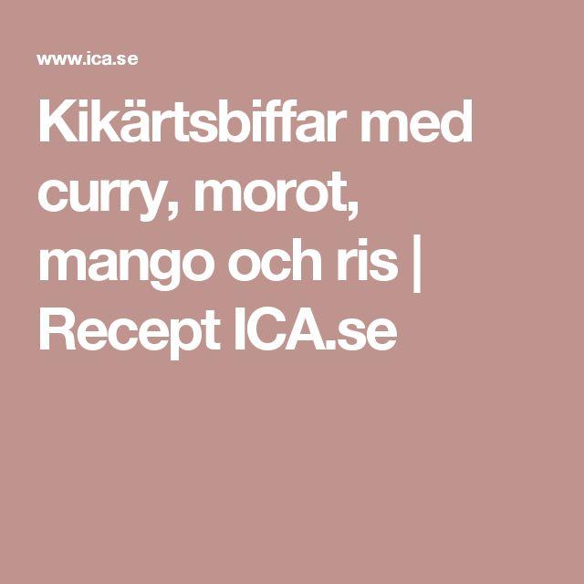 Kikärtsbiffar med curry, morot, mango och ris | Recept ICA.se