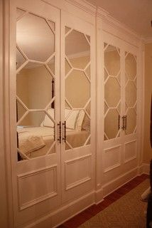 Built In Mirrored Closet Doors