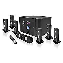 Home Audio Amplifiers - 7.1 Channel Home Theater System with Satellite Speakers, Center Channel, Subwoofer, Bluetooth, FM TunerHome Audio Amplifiers