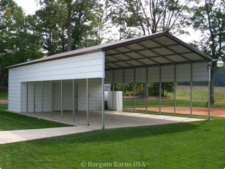 Carport with Storage Building