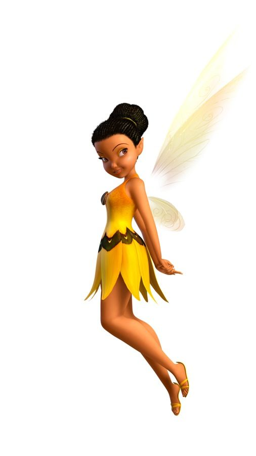 Hi!! I'm Iridessa!! Hey! Your the new light fairy!! Welcome! I'm sure you'll have a great  time here!!!