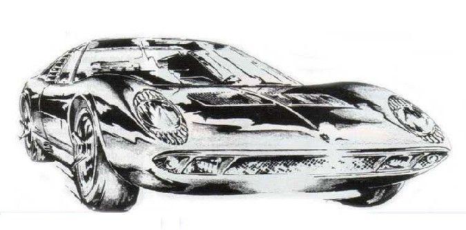 Marcello Gandini - Lamborghini Miura Study