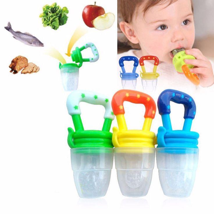 Recién nacido Los Bebés Chupete Alimentación multicolor Bebé Fresh Food Sopa de Frutas Alimentador Destete Chupete Chupete Pezón