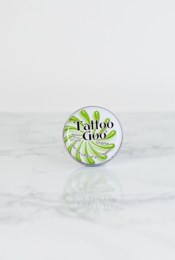 Shop the Tattoo Goo® Salve The compact tin fits in your pocket or bag for convenient on-the-go skin care. The lavender oil is a great aftercare ingredient that helps soothe healing skin, and our beeswax base (similar to a lip balm) moisturizes healing and healed tattoos alike.