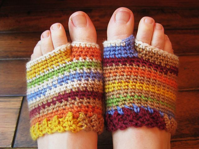 Flip flop socklets - could definitely make these into yoga socks. Personally I want a pair to wear when I paint my toenails. My feet always get so and I can't put socks on because my toes are wet.