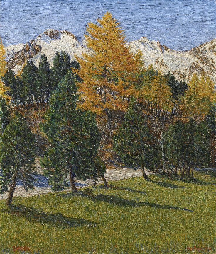 """ Gottardo Segantini (Swiss, 1882-1974), Herbstschnee [Autumn snow], 1922. Oil on canvas, 66 x 56 cm. """